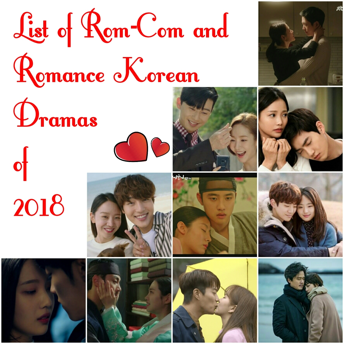 (53) List of Romantic Comedy and Romance Kdramas of 2018