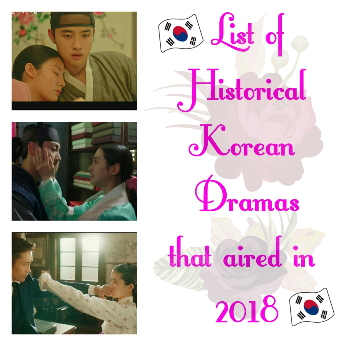 List of Historical Korean Dramas that aired in 2018