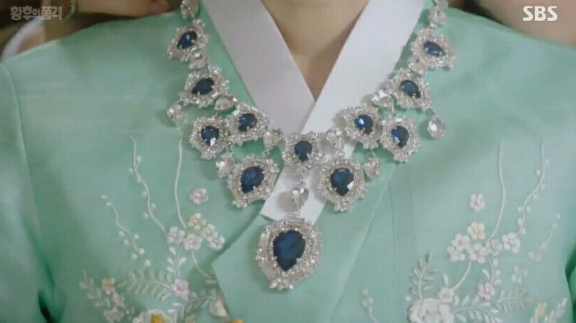 The necklace in the the last empress korean drama