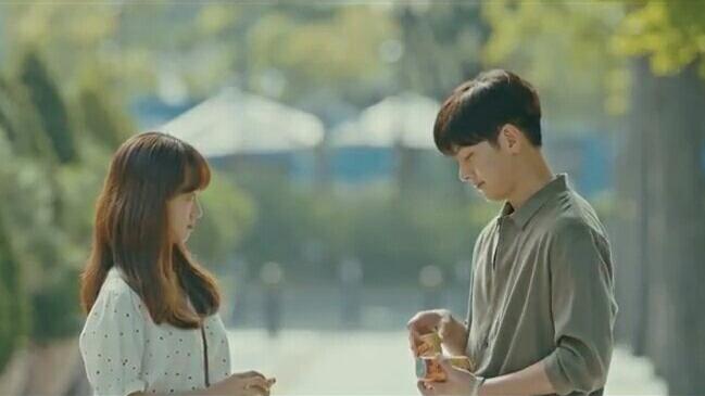 ji chang wook and won jin ah melting me softly cute scene