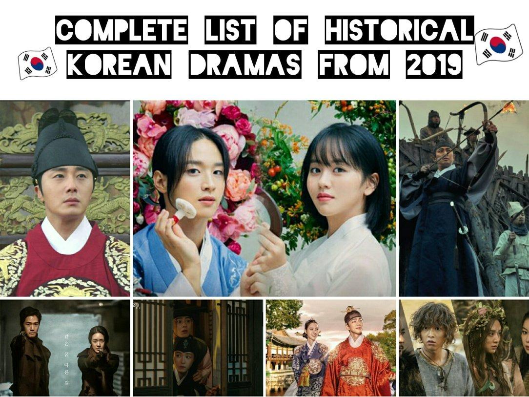 complete list of historical korean dramas 2019