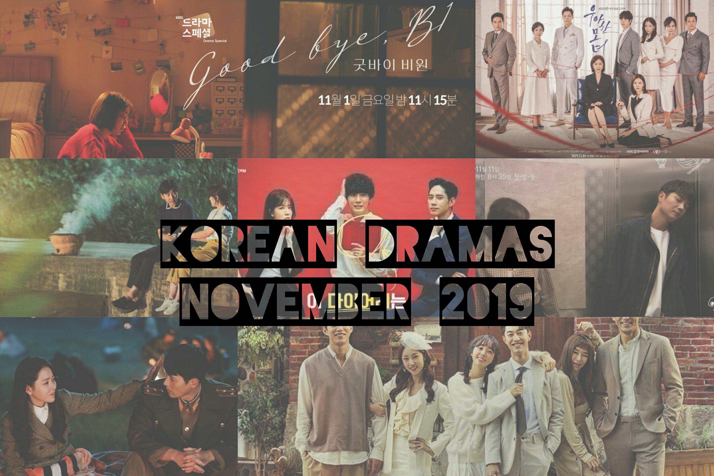november 2019 korean dramas