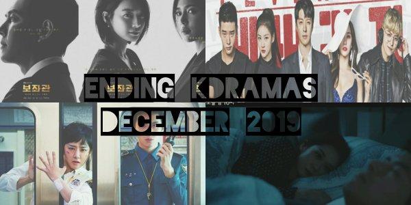 korean dramas finished december 2019