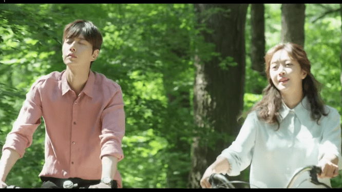 Forest drama 2020 sceret cycling scene