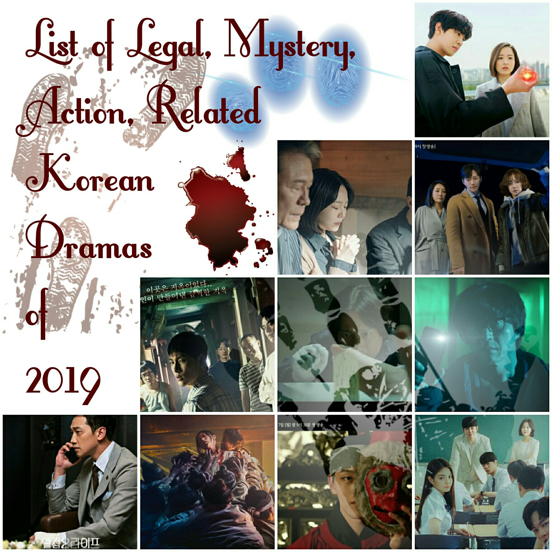 list of legal, crime, mystery, action related korean dramas of 2019