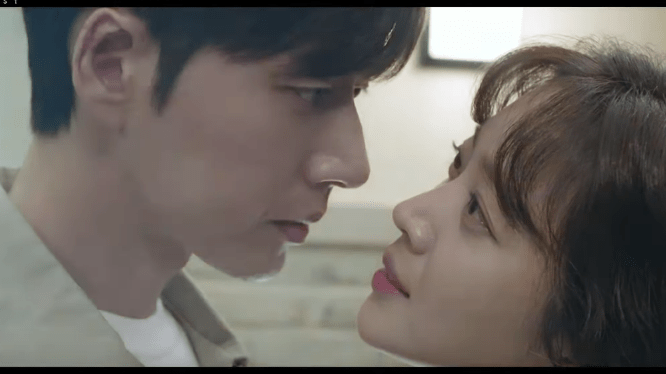 Park Hae Jin and Jo Bo Ah Kiss scene drama Forest 2020